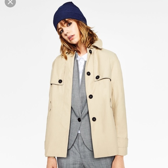 8716d83b Zara Jackets & Coats   One Day Sale Short Trench Coat   Poshmark